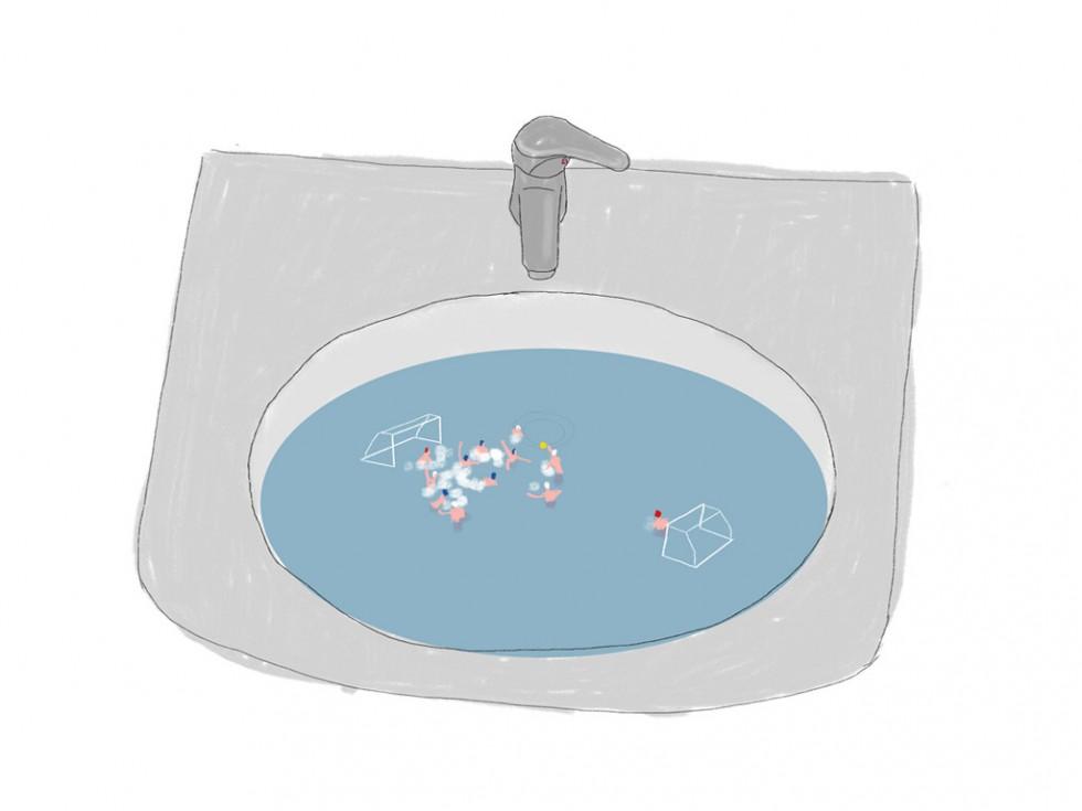 Pallanuoto nel bagno di casa - alkoipa
